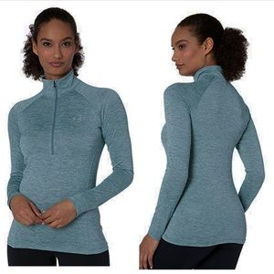 under armour / half zip teal long sleeve pullover